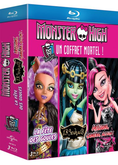 Monster High - Un coffret mortel ! : La fête des goules + 13 souhaits + Frissons, caméra, action ! (Pack) - Blu-ray