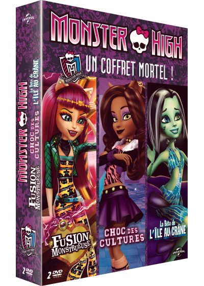 Monster High - Un coffret mortel ! : Fusion monstrueuse + Choc des cultures ! + La Bête de l'Île au Crâne (Pack) - DVD