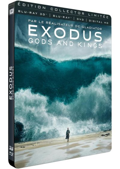 Exodus : Gods and Kings (Combo Blu-ray 3D + Blu-ray + DVD + Digital HD - Édition Collector Limitée boîtier SteelBook) - Blu-ray 3D