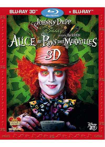Alice au Pays des Merveilles (Combo Blu-ray 3D + Blu-ray 2D) - Blu-ray 3D
