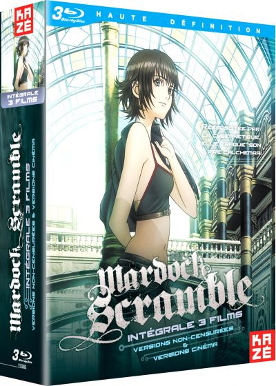 Mardock Scramble - Intégrale 3 films : The First Compression + The Second Combustion + The Third Exhaust - Blu-ray
