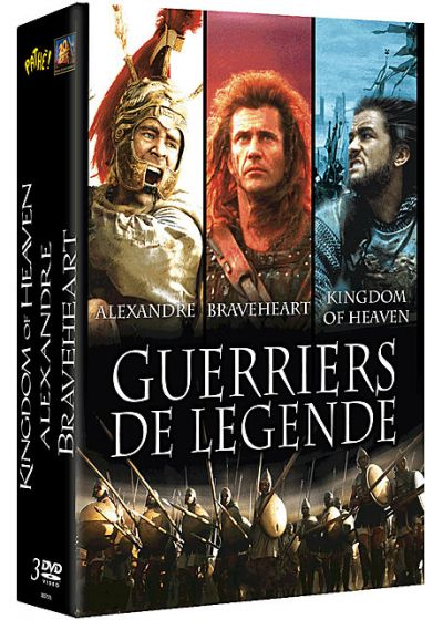 Guerriers de légende - Coffret 3 films : Alexandre + Braveheart + Kingdom of Heaven (Pack) - DVD