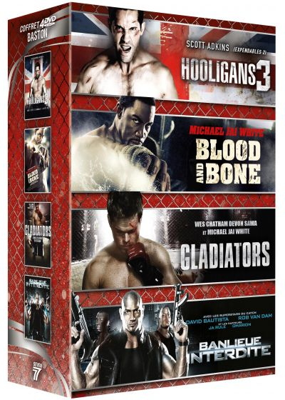 Baston : Banlieue interdite + Blood & Bones + Hooligans 3 + Gladiators (Pack) - DVD