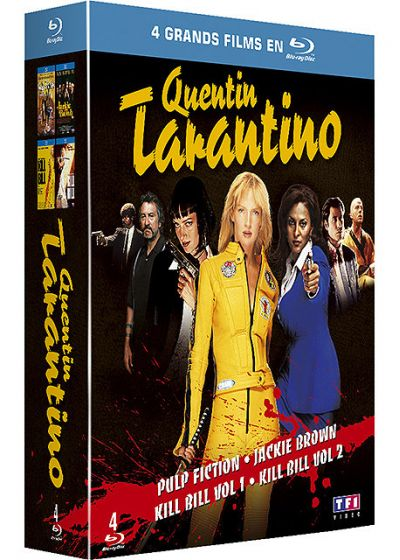 Quentin Tarantino - Coffret - Pulp Fiction + Jackie Brown + Kill Bill Vol. 1 + 2 (Pack) - Blu-ray