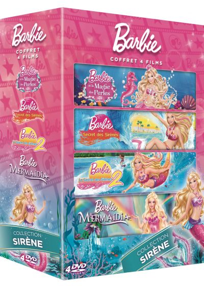 Barbie - Coffret 4 films : Collection Sirène (Pack) - DVD