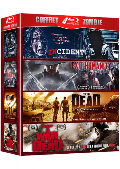 Coffret Zombie : Incident + Exit Humanity + The Dead + War of the Dead (Pack) - Blu-ray