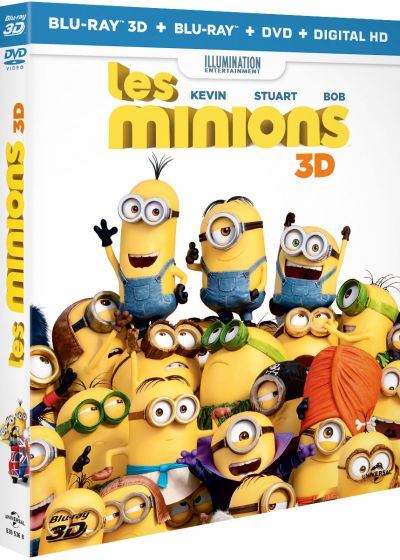 Les Minions (Combo Blu-ray 3D + Blu-ray + DVD + Copie digitale) - Blu-ray 3D