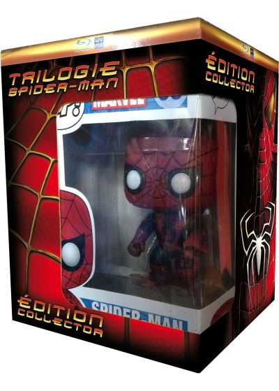 Trilogie Spider-Man - Origins Collection : Spider-Man 1 + Spider-Man 2 + Spider-Man 3 (+ figurine Pop! (Funko)) - Blu-ray