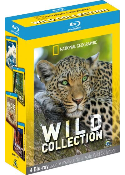 National Geographic - Wild Collection : Amérique sauvage + Inde sauvage + Hawaï sauvage (Pack) - Blu-ray