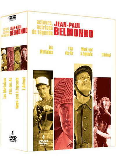 Jean-Paul Belmondo - Coffret - Les morfalous + L'as des as + Week-end à Zuydcoote + L'animal (Pack) - DVD
