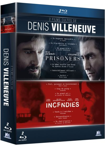 2 films cultes de Denis Villeneuve : Prisoners + Incendies (Pack) - Blu-ray