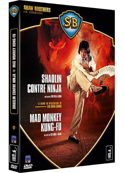 Coffret Shaw Brothers - Le Kung-Fu hystérique de Lui Chi-Liang - Shaolin contre ninja + Mad Monkey Kung-Fu (Pack) - DVD