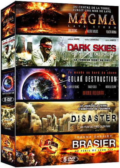 Catastrophe - Coffret 5 films : Magma + Dark Skies + Solar Destruction + Disaster + Brasier (Pack) - DVD