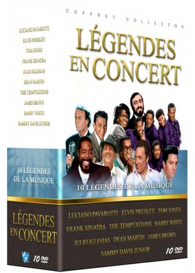 Légendes en concert : Luciano Pavarotti + Elvis Presley + Tom Jones + Frank Sinatra + The Temptations + Barry White + Julio Iglesias + Dean Martin + James Brown + Sammy Davis Jr. (Pack) - DVD