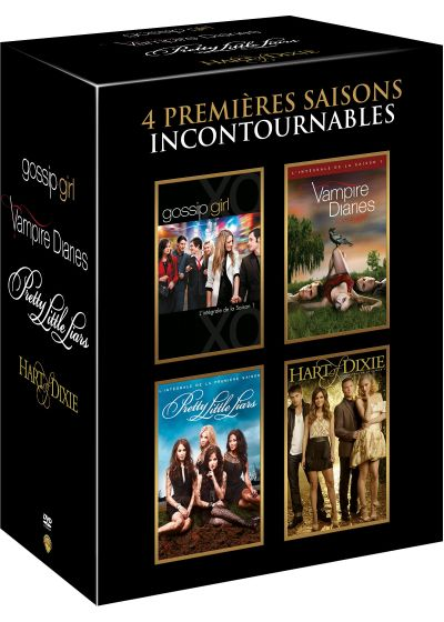 4 premières saisons incontournables : Gossip Girl + Vampire Diaries + Pretty Little Liars + Hart of Dixie (Pack) - DVD