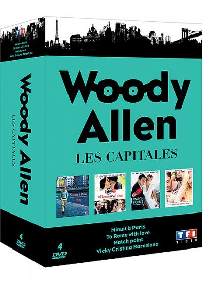 Woody Allen - Les capitales : Minuit à Paris + To Rome With Love + Match Point + Vicky Cristina Barcelona (Pack) - DVD