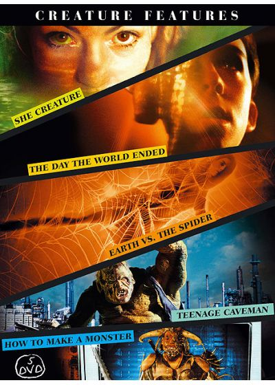 Creature Features - She Creature + The Day the World Ended + Earth vs. the Spider + Teenage Caveman + How to Make a Monster - DVD
