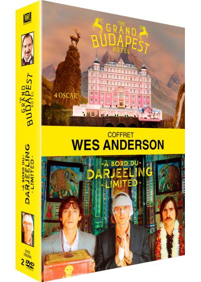 Wes Anderson : The Grand Budapest Hotel + A bord du Darjeeling Limited (Pack) - DVD