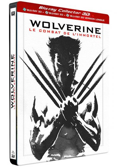 Wolverine : Le combat de l'immortel (Édition Collector Combo Blu-ray 3D + 2D + 2D Version Longue boîtier SteelBook) - Blu-ray 3D