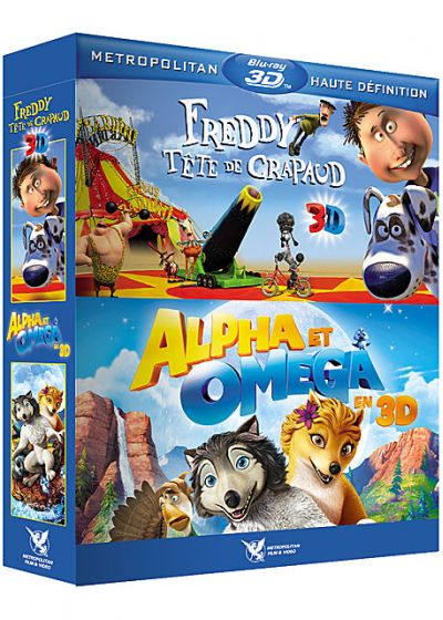 Freddy tête de crapaud + Alpha & Omega (Pack) - Blu-ray 3D