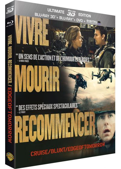 Edge of Tomorrow (Ultimate Edition - Blu-ray 3D + Blu-ray + DVD + Copie digitale) - Blu-ray 3D