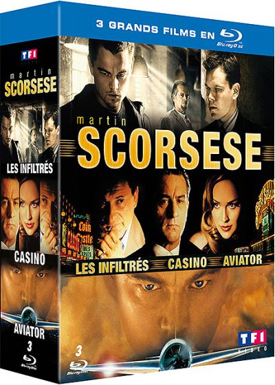 Martin Scorsese - Coffret - Les inflitrés + Aviator + Casino (Pack) - Blu-ray