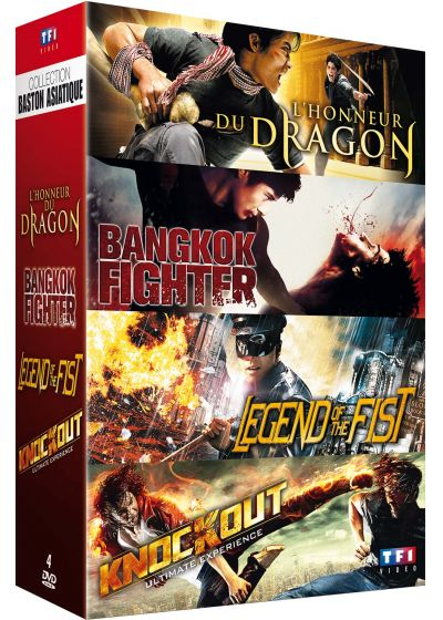 Collection Baston asiatique : L'honneur du dragon + Bangkok Fighter + Legend of the Fist + Knockout (Pack) - DVD