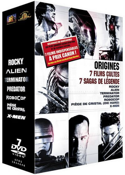 Origines : 7 films cultes, 7 sagas de légende (Pack) - DVD
