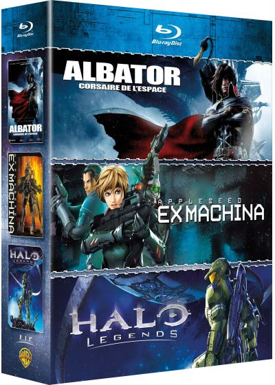 Albator, corsaire de l'espace + Halo Legends + Appleseed Ex Machina (Pack) - Blu-ray