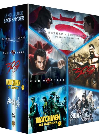 Le Meilleur de Zack Snyder : Batman v Superman, l'aube de la justice + Man of Steel + 300 + Watchmen, les Gardiens + Sucker Punch (Pack) - DVD