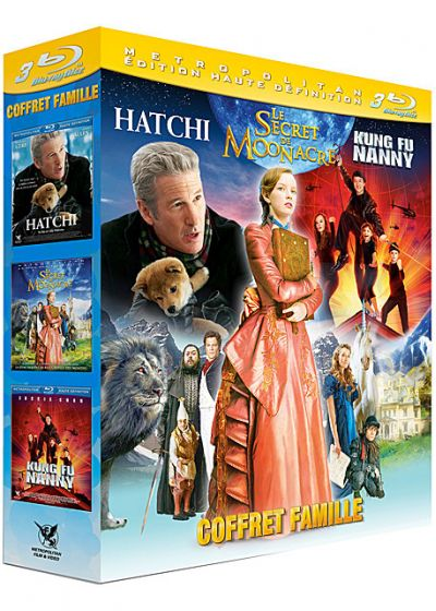 Famille : Hatchi + Le secret de Moonacre + Kung Fu Nanny (Pack) - Blu-ray