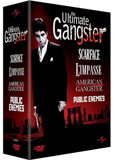The Ultimate Gangster - Coffret - American Gangster + Scarface + L'impasse + Public Enemies - DVD