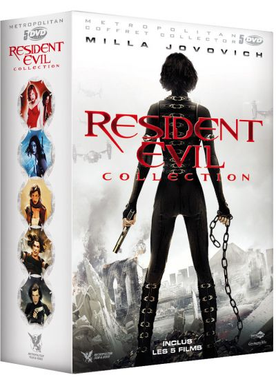 Resident Evil Collection : Resident Evil + Resident Evil : Apocalypse + Resident Evil : Extinction + Resident Evil : Afterlife + Resident Evil : Retribution (Pack) - DVD