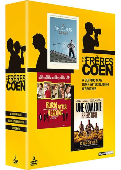 Coffret Frères Coen - O'Brother + Burn After Reading + A Serious Man - DVD