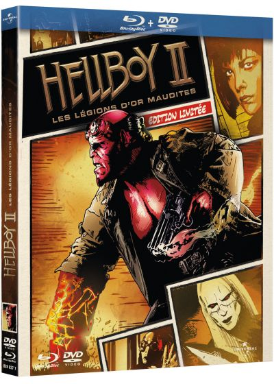 Hellboy II, Les légions d'or maudites (Édition Comic Book - Blu-ray + DVD) - Blu-ray