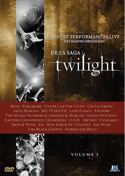 Clips et performances live des bandes originales de la saga Twilight - Volume I - DVD