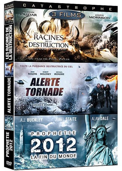 Disaster - Coffret 3 films : Les racines de la destruction + Alerte tornade + Prophétie 2012 : La fin du monde (Pack) - DVD