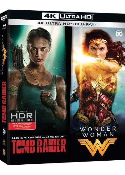 Coffret Tomb Raider (2018) + Wonder Woman - Collection de 2 films (4K Ultra HD + Blu-ray) - 4K UHD