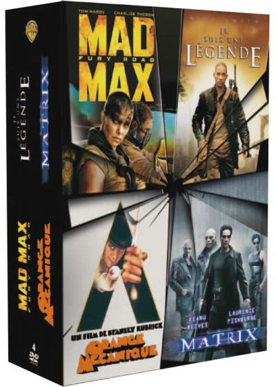 Mad Max Fury Road + Matrix + Je suis une légende + Orange mécanique (Pack) - DVD