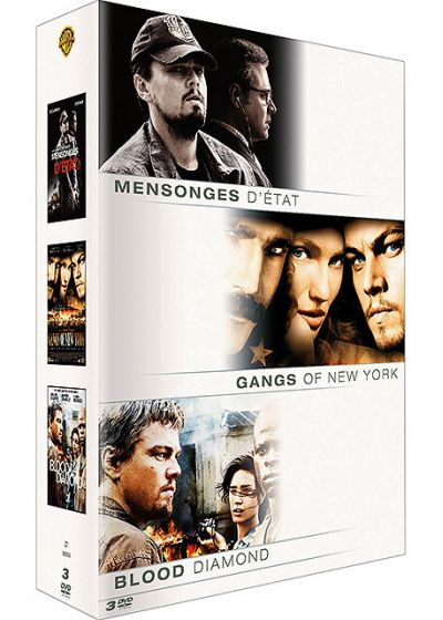 Coffret Leonardo Di Caprio - Mensonges d'état + Gangs of New York + Blood Diamond (Pack) - DVD