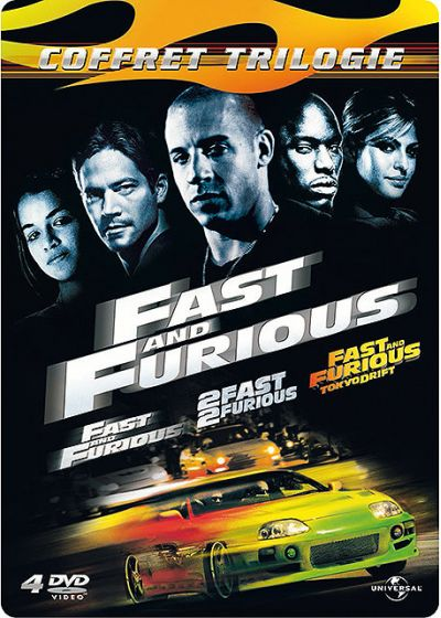 Fast and Furious - Coffret Trilogie : Fast and Furious + 2 Fast 2 Furious + Fast & Furious : Tokyo Drift (Pack Collector boîtier SteelBook) - DVD