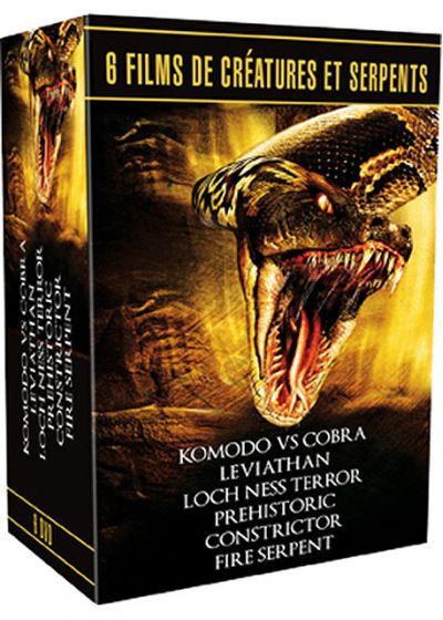6 films de créatures et serpents (Pack) - DVD