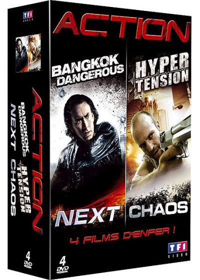 Action - Coffret : Bangkok Dangerous + Hyper tension + Next + Chaos (Pack) - DVD