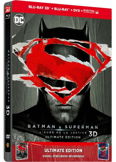 Batman v Superman : L'aube de la justice (Édition spéciale FNAC - SteelBook Ultimate Édition - Blu-ray 3D + Blu-ray + DVD + Copie digitale + Bande originale) - Blu-ray 3D