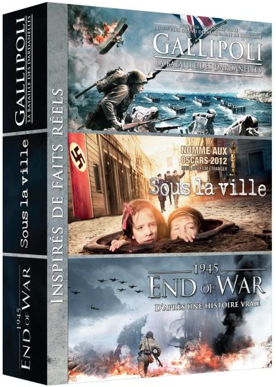 Guerre : Gallipoli - La bataille des Dardanelles + Sous la ville + 1945 - End of War (Pack) - DVD