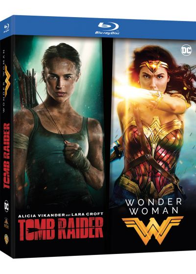 Coffret Tomb Raider (2018) + Wonder Woman - Collection de 2 films (Pack) - Blu-ray