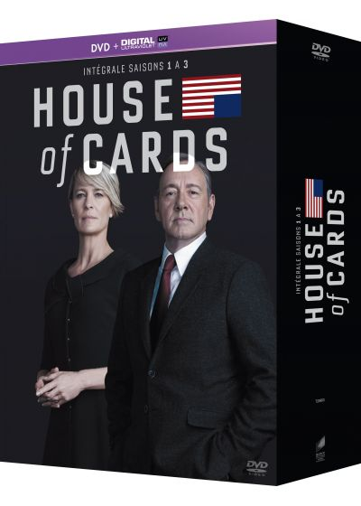House of Cards - Intégrale saisons 1-2-3 (DVD + Copie digitale) - DVD