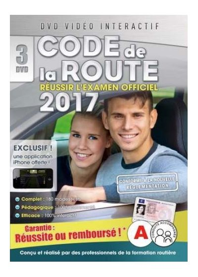 dvdfr code de la route 2017 3 dvd dvd interactif dvd. Black Bedroom Furniture Sets. Home Design Ideas