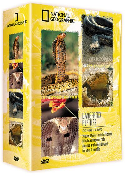 National Geographic - Coffret - Dangereux reptiles - DVD