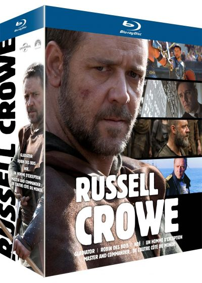Coffret Russell Crowe : Robin des Bois + Gladiator + Master & Commander + Noé + Un homme d'exception (Pack) - Blu-ray